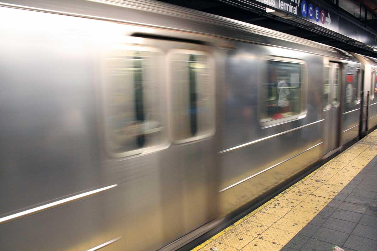New York Subway departing